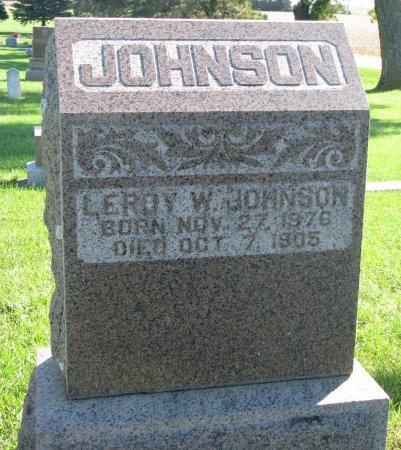 JOHNSON, LEROY W. - Union County, South Dakota | LEROY W. JOHNSON - South Dakota Gravestone Photos