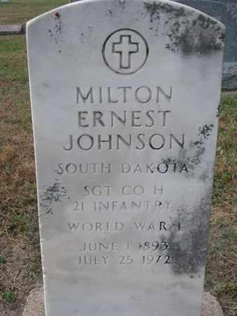 JOHNSON, MILTON ERNEST (WORLD WAR I) - Union County, South Dakota   MILTON ERNEST (WORLD WAR I) JOHNSON - South Dakota Gravestone Photos