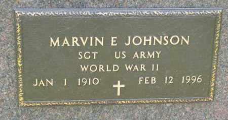 JOHNSON, MARVIN E. (WORLD WAR II) - Union County, South Dakota | MARVIN E. (WORLD WAR II) JOHNSON - South Dakota Gravestone Photos