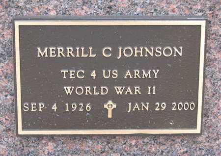 JOHNSON, MERRILL C. (WORLD WAR II) - Union County, South Dakota | MERRILL C. (WORLD WAR II) JOHNSON - South Dakota Gravestone Photos