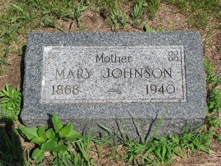 JOHNSON, MARY - Union County, South Dakota   MARY JOHNSON - South Dakota Gravestone Photos