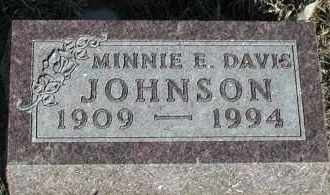 JOHNSON, MINNIE E - Union County, South Dakota | MINNIE E JOHNSON - South Dakota Gravestone Photos