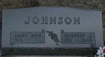 JOHNSON, MARY ANN - Union County, South Dakota | MARY ANN JOHNSON - South Dakota Gravestone Photos