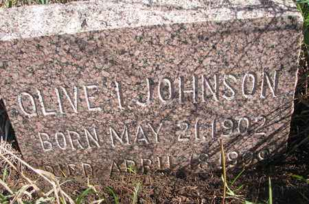 JOHNSON, OLIVE I. - Union County, South Dakota | OLIVE I. JOHNSON - South Dakota Gravestone Photos