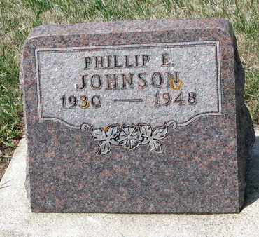 JOHNSON, PHILLIP E. - Union County, South Dakota | PHILLIP E. JOHNSON - South Dakota Gravestone Photos