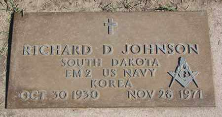 JOHNSON, RICHARD D. - Union County, South Dakota | RICHARD D. JOHNSON - South Dakota Gravestone Photos