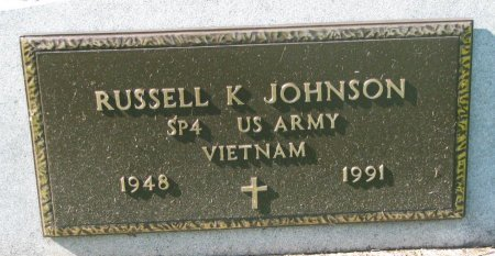 JOHNSON, RUSSELL K. (VIETNAM) - Union County, South Dakota | RUSSELL K. (VIETNAM) JOHNSON - South Dakota Gravestone Photos
