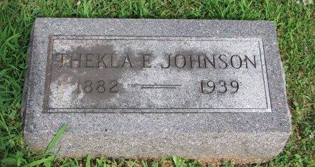 HANSON JOHNSON, THEKLA EUFEMIA - Union County, South Dakota   THEKLA EUFEMIA HANSON JOHNSON - South Dakota Gravestone Photos