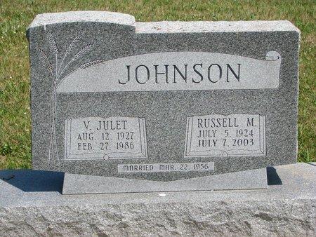 JOHNSON, V. JULET - Union County, South Dakota   V. JULET JOHNSON - South Dakota Gravestone Photos