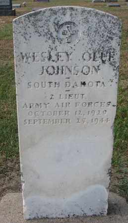 JOHNSON, WESLEY OLUF (WORLD WAR II) - Union County, South Dakota | WESLEY OLUF (WORLD WAR II) JOHNSON - South Dakota Gravestone Photos