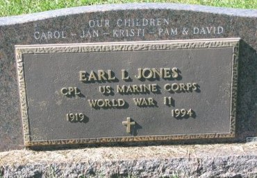 JONES, EARL L. (MILITARY) - Union County, South Dakota | EARL L. (MILITARY) JONES - South Dakota Gravestone Photos