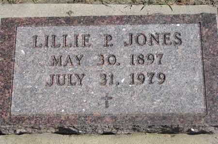 JONES, LILLIE P. - Union County, South Dakota   LILLIE P. JONES - South Dakota Gravestone Photos