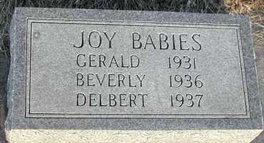 JOY, GERALD - Union County, South Dakota | GERALD JOY - South Dakota Gravestone Photos