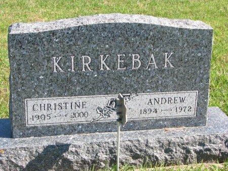 JENSEN KIRKEBAK, CHRISTINE - Union County, South Dakota | CHRISTINE JENSEN KIRKEBAK - South Dakota Gravestone Photos