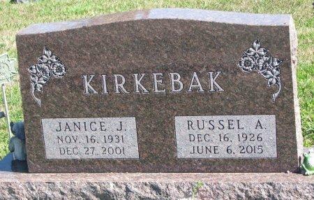 KIRKEBAK, RUSSEL A. - Union County, South Dakota | RUSSEL A. KIRKEBAK - South Dakota Gravestone Photos