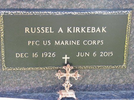 KIRKEBAK, RUSSEL A. (MARINES) - Union County, South Dakota | RUSSEL A. (MARINES) KIRKEBAK - South Dakota Gravestone Photos