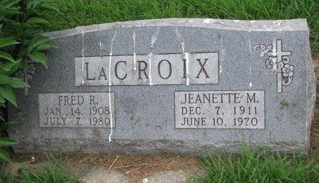 LACROIX, FRED R. - Union County, South Dakota | FRED R. LACROIX - South Dakota Gravestone Photos