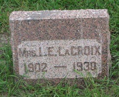 LACROIX, MRS. L.E. - Union County, South Dakota | MRS. L.E. LACROIX - South Dakota Gravestone Photos
