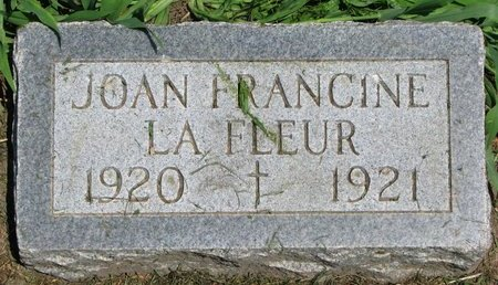 LAFLEUR, JOAN FRANCINE - Union County, South Dakota | JOAN FRANCINE LAFLEUR - South Dakota Gravestone Photos