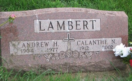 LAMBERT, ANDREW H. - Union County, South Dakota | ANDREW H. LAMBERT - South Dakota Gravestone Photos