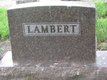LAMBERT, *FAMILY MONUMENT-EMMA, JOHN, LOUISA, MICHAEL, OLIVER & RAYMO - Union County, South Dakota | *FAMILY MONUMENT-EMMA, JOHN, LOUISA, MICHAEL, OLIVER & RAYMO LAMBERT - South Dakota Gravestone Photos