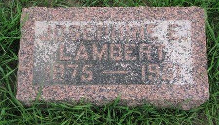 LAMBERT, JOSEPHINE E. - Union County, South Dakota | JOSEPHINE E. LAMBERT - South Dakota Gravestone Photos