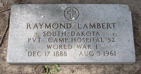 LAMBERT, RAYMOND (WORLD WAR I) - Union County, South Dakota | RAYMOND (WORLD WAR I) LAMBERT - South Dakota Gravestone Photos