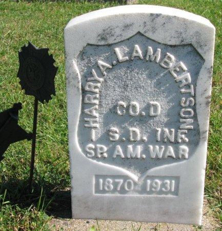 LAMBERTSON, HARRY A. (SPANISH AMERICAN WAR) - Union County, South Dakota | HARRY A. (SPANISH AMERICAN WAR) LAMBERTSON - South Dakota Gravestone Photos