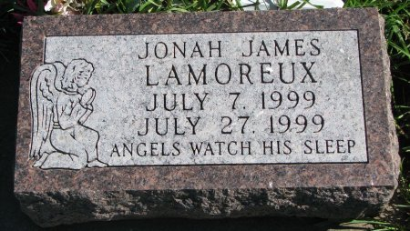 LAMOREUX, JONAH JAMES - Union County, South Dakota | JONAH JAMES LAMOREUX - South Dakota Gravestone Photos