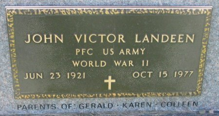 LANDEEN, JOHN VICTOR (WORLD WAR II) - Union County, South Dakota | JOHN VICTOR (WORLD WAR II) LANDEEN - South Dakota Gravestone Photos