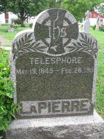 LAPIERRE, TELESPHORE - Union County, South Dakota | TELESPHORE LAPIERRE - South Dakota Gravestone Photos