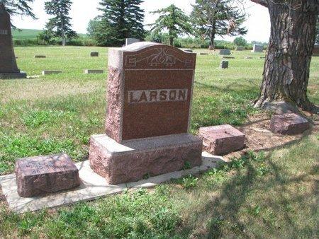 LARSON, *FAMILY MEMORIAL FOR J.F., EMILY, & MINNIE - Union County, South Dakota | *FAMILY MEMORIAL FOR J.F., EMILY, & MINNIE LARSON - South Dakota Gravestone Photos