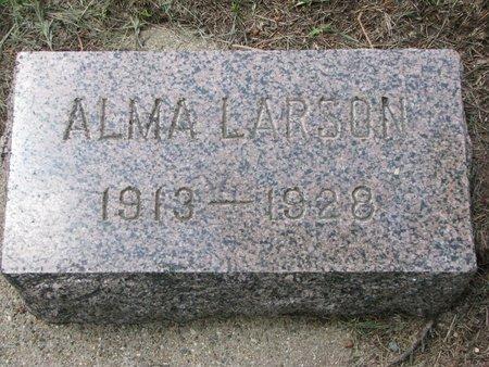 LARSON, ALMA - Union County, South Dakota   ALMA LARSON - South Dakota Gravestone Photos
