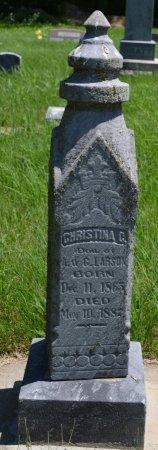 LARSON, CHRISTINA C. - Union County, South Dakota   CHRISTINA C. LARSON - South Dakota Gravestone Photos