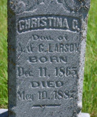 LARSON, CHRISTINA C. (CLOSE UP) - Union County, South Dakota | CHRISTINA C. (CLOSE UP) LARSON - South Dakota Gravestone Photos