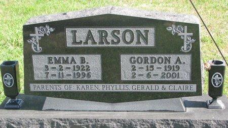 LARSON, EMMA B. - Union County, South Dakota | EMMA B. LARSON - South Dakota Gravestone Photos
