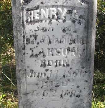 LARSON, HENRY A. (CLOSEUP) - Union County, South Dakota | HENRY A. (CLOSEUP) LARSON - South Dakota Gravestone Photos