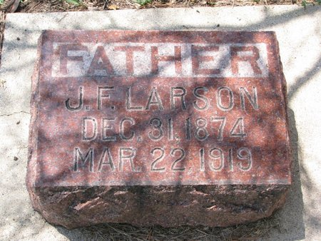LARSON, J.F. - Union County, South Dakota | J.F. LARSON - South Dakota Gravestone Photos