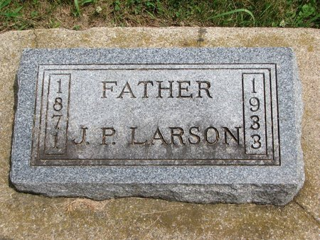 LARSON, JOHN PETER - Union County, South Dakota   JOHN PETER LARSON - South Dakota Gravestone Photos
