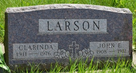 LARSON, CLARINDA - Union County, South Dakota | CLARINDA LARSON - South Dakota Gravestone Photos