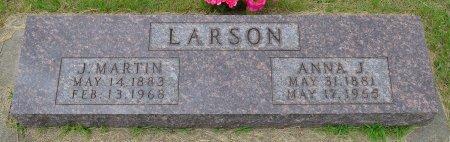 LARSON, JOHAN MARTIN - Union County, South Dakota | JOHAN MARTIN LARSON - South Dakota Gravestone Photos