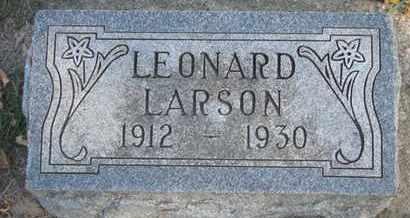 LARSON, LEONARD - Union County, South Dakota | LEONARD LARSON - South Dakota Gravestone Photos