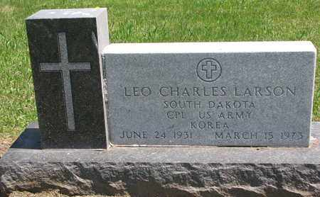 LARSON, LEO CHARLES (KOREA) - Union County, South Dakota | LEO CHARLES (KOREA) LARSON - South Dakota Gravestone Photos