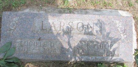 LARSON, JOHN EDWARD PHILIP - Union County, South Dakota | JOHN EDWARD PHILIP LARSON - South Dakota Gravestone Photos