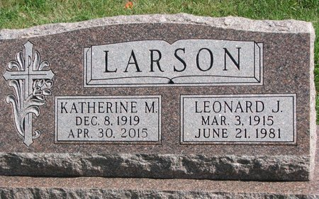 LARSON, KATHERINE MARIE - Union County, South Dakota | KATHERINE MARIE LARSON - South Dakota Gravestone Photos
