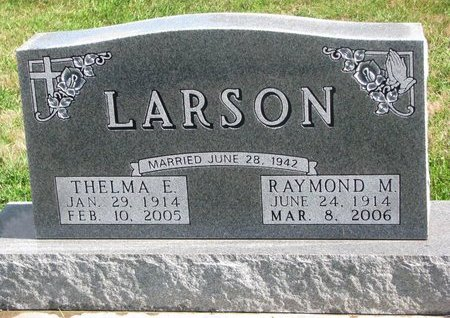 LARSON, THELMA E. - Union County, South Dakota | THELMA E. LARSON - South Dakota Gravestone Photos