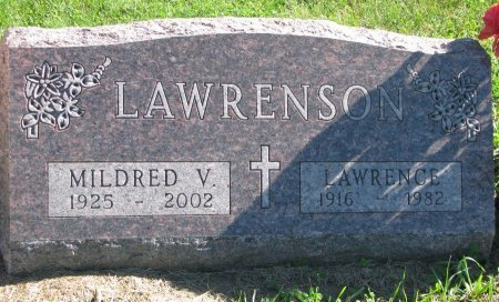 LAWRENSON, MILDRED V. - Union County, South Dakota | MILDRED V. LAWRENSON - South Dakota Gravestone Photos