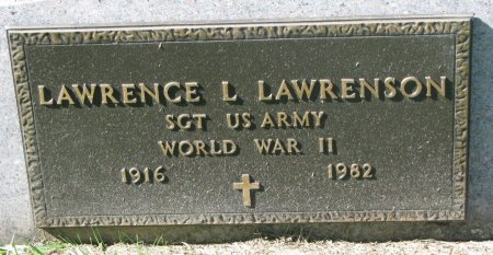 LAWRENSON, LAWRENCE L. (WORLD WAR II) - Union County, South Dakota | LAWRENCE L. (WORLD WAR II) LAWRENSON - South Dakota Gravestone Photos