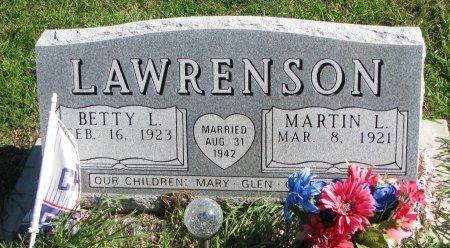 LAWRENSON, BETTY LOU - Union County, South Dakota | BETTY LOU LAWRENSON - South Dakota Gravestone Photos