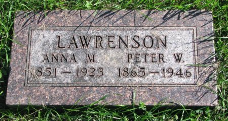 ANDERSON LAWRENSON, ANNA M. - Union County, South Dakota | ANNA M. ANDERSON LAWRENSON - South Dakota Gravestone Photos